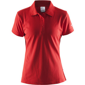 Craft Classic Piqué Poloshirt Dames, bright red